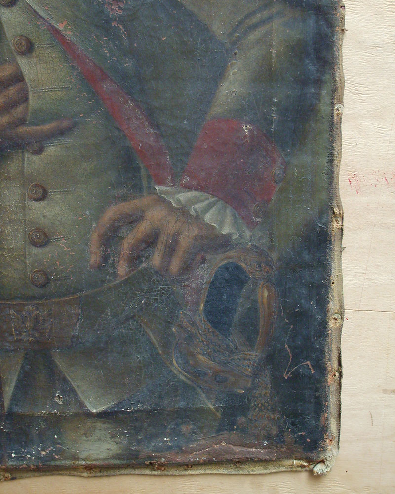Prussian Officer Before Restoration Close Up